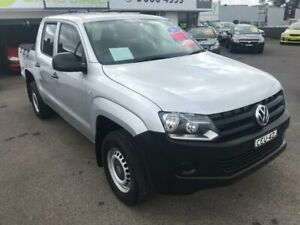 2011 Volkswagen Amarok 2H TDI400 Silver Manual Utility Lansvale Liverpool Area Preview