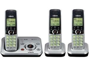 3X Handsets Cordless Phones With Integrated Answering Machine