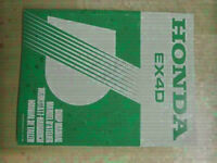 Honda EX4D Generator Original Shop Manual