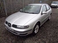 SEAT LEON 1.4 PETROL 2002 5 DOOR SILVER 86,000 MILES MOT 9/03/18 NO ADVISORIES EXCELLENT CONDITION