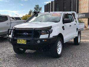 2017 Ford Ranger PX MkII XL Double Cab White 6 Speed Manual Cab Chassis