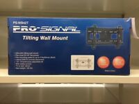 A slimline, tilting wall mount for LCD & domestic televisions