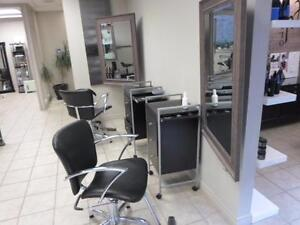 USED HAIR SALON AND SPA FURNITURE AUCTION SALE / HAIR SALON FURNITURE MUST GO CLOSING SALE / BARBER CHAIRS