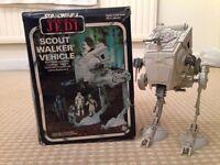 Star Wars Palitoy AT-ST WALKER . Boxed / complete vintage Kenner / Lucasfilm 1982 ROJ