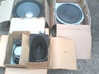 "14"" mc kenzie speaker 200w plus other vintage speakers joblot"