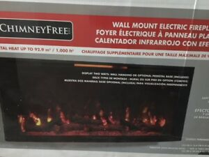 Wall mount Fireplace - Brand new