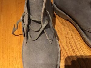 CLARKS  SUEDE / LEATHER BOOTS / shoes -  WOMEN 9