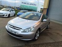 Peugeot 307 CC 2.0 16v 2dr Value For Money, Summer Fun,