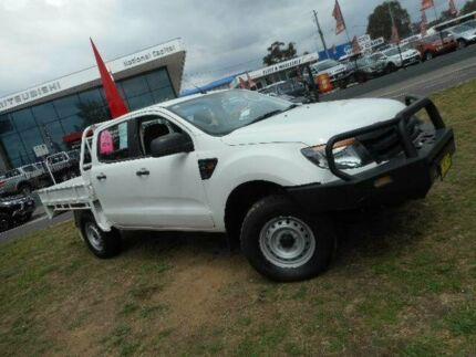 2013 Ford Ranger PX XL 2.2 (4x4) White 6 Speed Manual Crew Cab Chassis