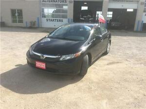 2012 Honda Civic Sdn DX Certified $8995 +Hst&Lic