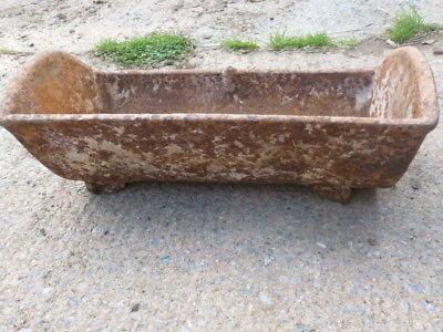Cast iron trough ref; suit as garden planter A10