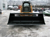 BOBCAT AND SKID STEER HIGH CAPACITY SNOW & MULCH BUCKET