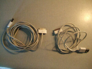 USB Sync Data Charging Charger Cable Cord for iphone 4/4s- $3