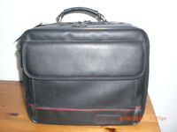 New Executive Targus Leather Laptop Computer Carrying Case