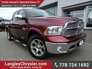 2016 RAM 1500 Laramie ACCIDENT FREE w/ 4X4, LEATHER & NAVIGATION
