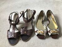 Used Size 6 flat shoes and sandals. Good condition