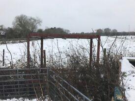 large heavy duty steel frame