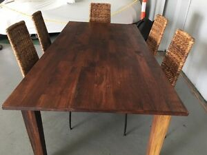 Solid timber dining table Homebush Strathfield Area Preview