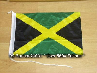 Fahnen Flagge Jamaica Jamaika Bootsfahne Tischwimpel - 30 x 40 cm