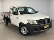 2012 Toyota Hilux TGN16R MY12 Workmate 4x2 White 5 Speed Manual Cab Chassis Chatswood Willoughby Area Preview