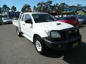 2010 Toyota Hilux KUN26R 09 Upgrade SR (4x4) White 5 Speed Manual Extracab Homebush West Strathfield Area Preview