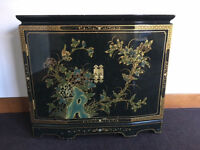 Hand Painted Chinese Lacquer Cabinet sideboard