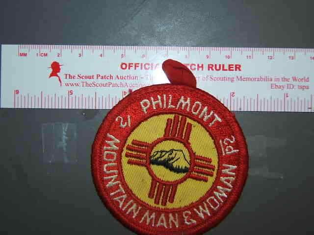 Boy Scout Philmont Mountain Man & Woman patch 6005V