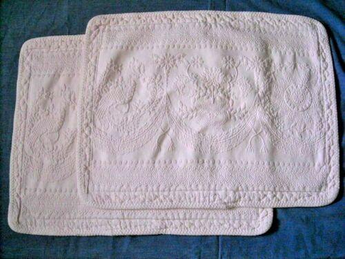 Set of 2 King Charles Historic Charleston Foundation Matelasse Bed Pillow Shams