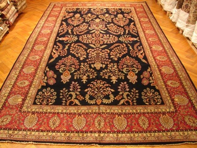 12x20 Traditional Sarouk Rug Soft Wool Pile