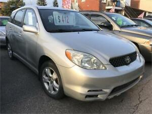 2003 TOYOTA MATRIX XR 4X4 AWD 4880$ FINANCEMENT MAISON 100% APPR
