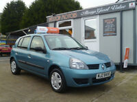 2007 RENAULT CLIO CAMPUS 1.2 8V GROUP 1 INS ONLY 67 K ,, ALL CREDIT/DEBIT CARDS ACCEPTED
