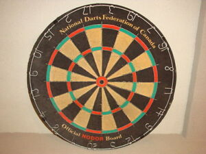 dart board and darts Kitchener / Waterloo Kitchener Area image 1