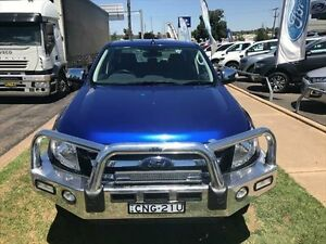 2013 Ford Ranger PX XLT 3.2 (4x4) Blue 6 Speed Manual Dual Cab Utility Young Young Area Preview