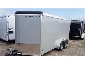 Enclosed Cargo Trailer - 7x14 with Wedge front and Ramp Door