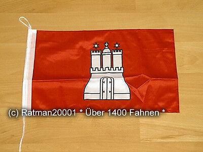 Fahnen Flagge Hamburg Bootsfahne Tischwimpel - 30 x 45 cm