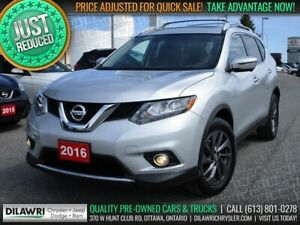 2016 Nissan Rogue SL AWD Premium | Navigation, Leather, Pano-Sun