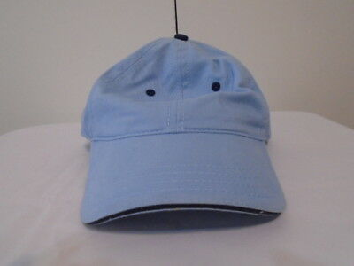 ONE NEW SKY/BABY BLUE CAP/HAT-NAVY BLUE TRIM/ACCENT-6 PANEL-COTTON-HOOK-OT[24010 Blue Sky Cotton Cap