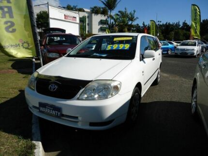 2004 Toyota Corolla ZZE122R Ascent White 4 Speed Automatic Wagon Dutton Park Brisbane South West Preview