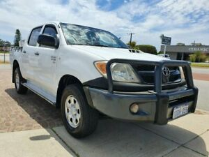 2007 Toyota Hilux KUN26R 06 Upgrade SR (4x4) White 5 Speed Manual Dual Cab Pick-up Wangara Wanneroo Area Preview