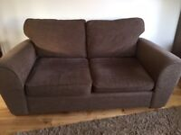 Two Next Sofas: 1x 3 Seater + 1x 3 Seater Sofa-bed (double) - Brown