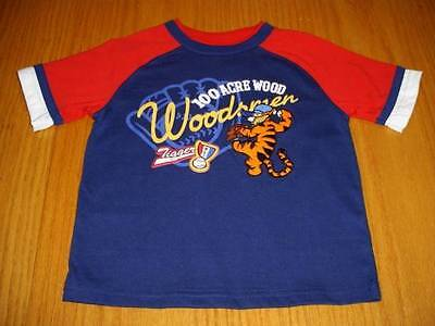 NEW DISNEY TIGGER PITCHER BASEBALL STITCHED SHIRT BOYS 4T  WINNIE THE POOH PAL