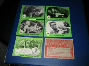 WANTED: OLD HORROR MONTER CARDS FROM EARLY 60'S