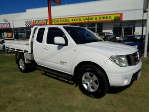 2008 Nissan Navara D40 ST-X King Cab White 6 Speed Manual Cab Chassis Kippa-ring Redcliffe Area Preview