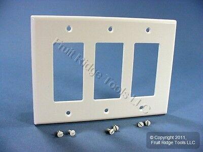 Leviton 80611-W 3-Gang Decora/GFCI Device Decora Wallplate,