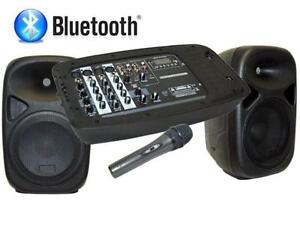 Système de haut-parleurs Groove Factory bluetooth avec microphone