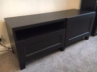 TV Stand with drawer, shelves and door