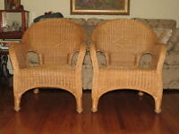 chairs wicker gorgeous vintage pair