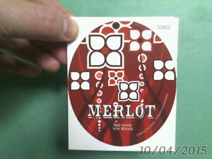 30 oval MERLOT STICKER LABELS for your home made WINE