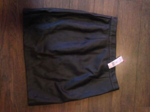 NEW MINI FAUX LEATHER SKIRT NO SLIT SIZE MED