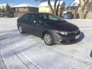 2012 Honda Civic Sdn EX W/Winter tires on Rims Included